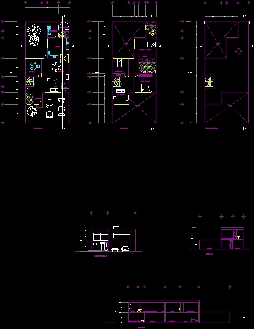 Housing 120 Mts Dwg Block For Autocad Designs Cad