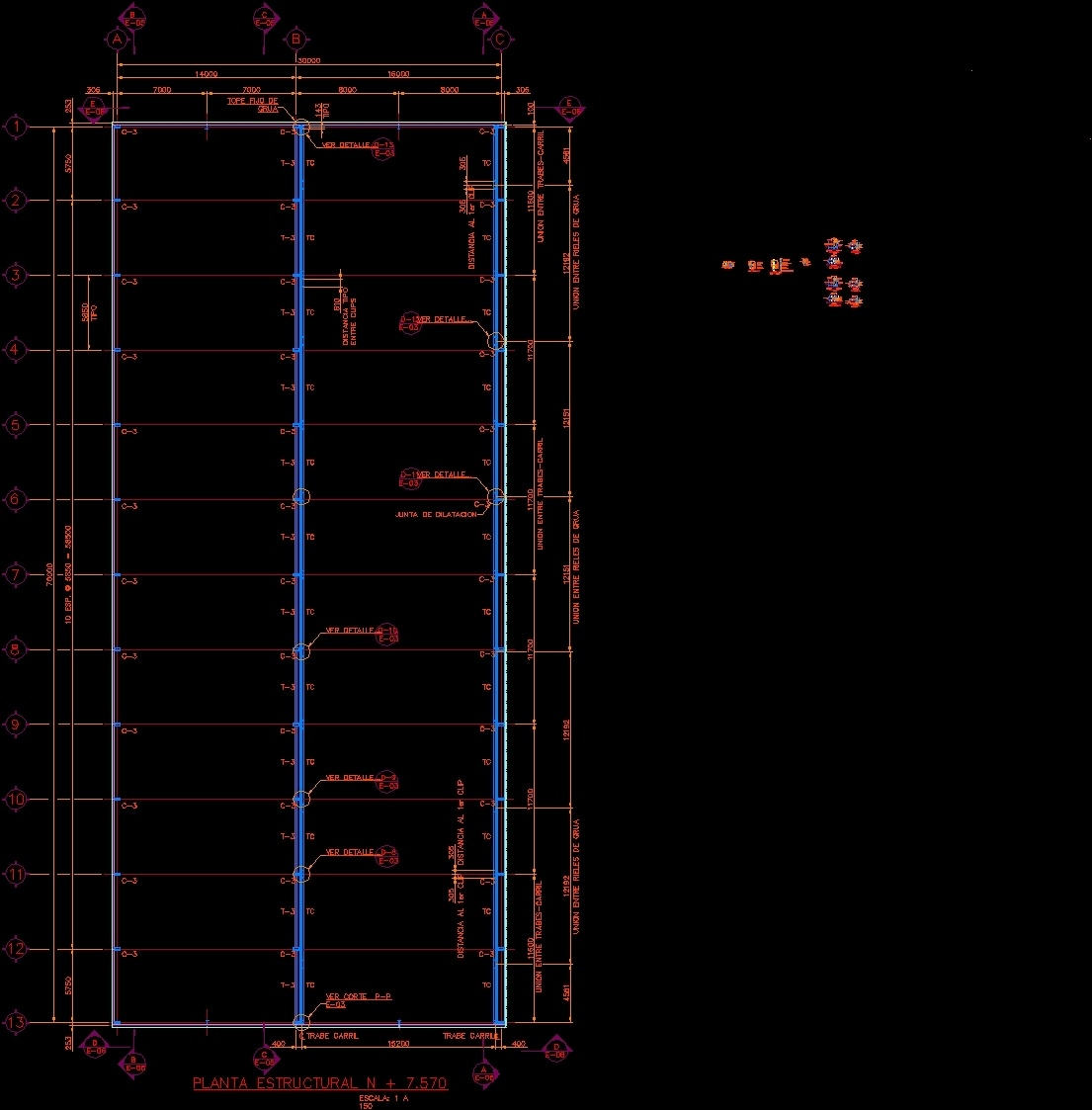 Industrial nave dwg detail for autocad designs cad for Nave industrial