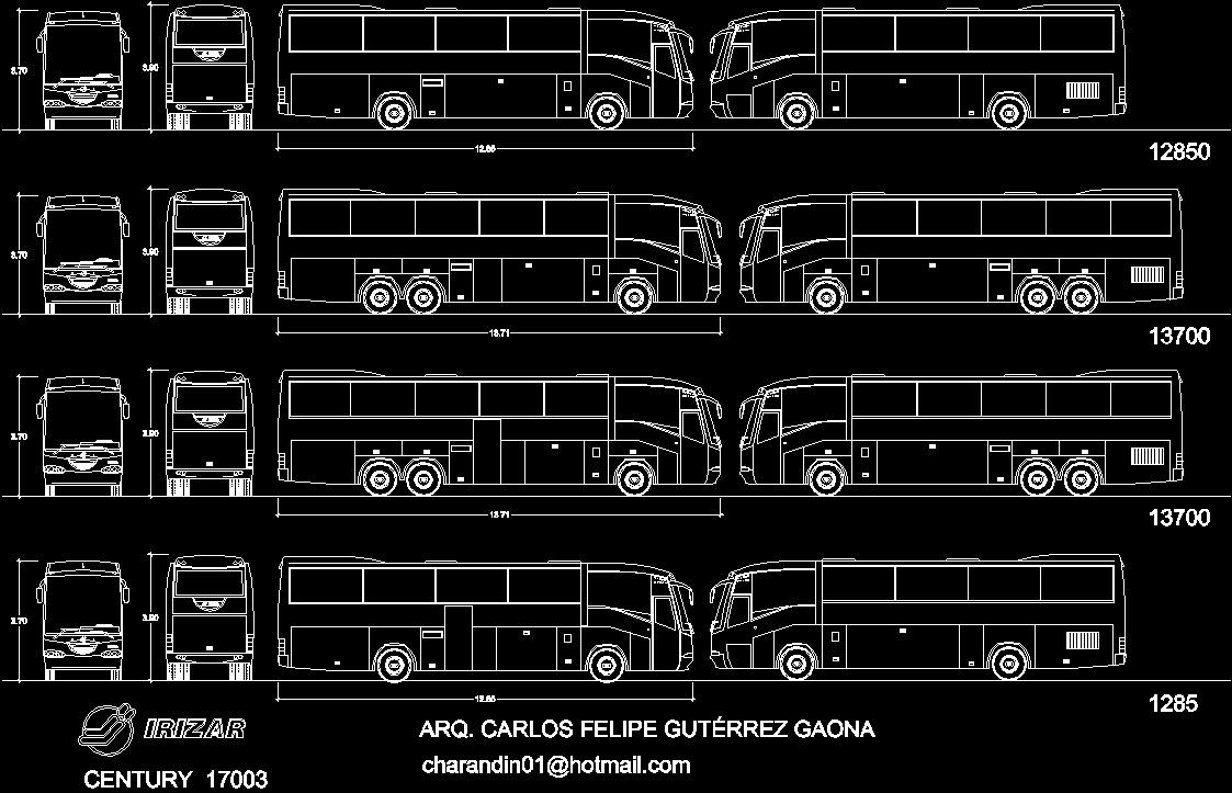 Iriza Century Bus Dwg Model For Autocad Designs Cad