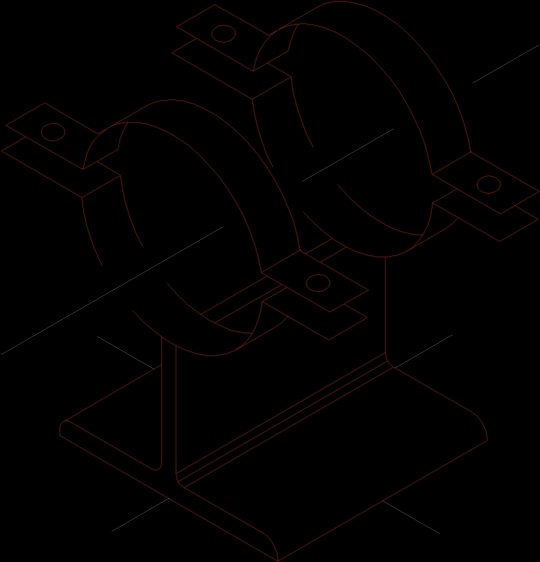 Iso Pipe Supports 2d Dwg Block For Autocad Designs Cad