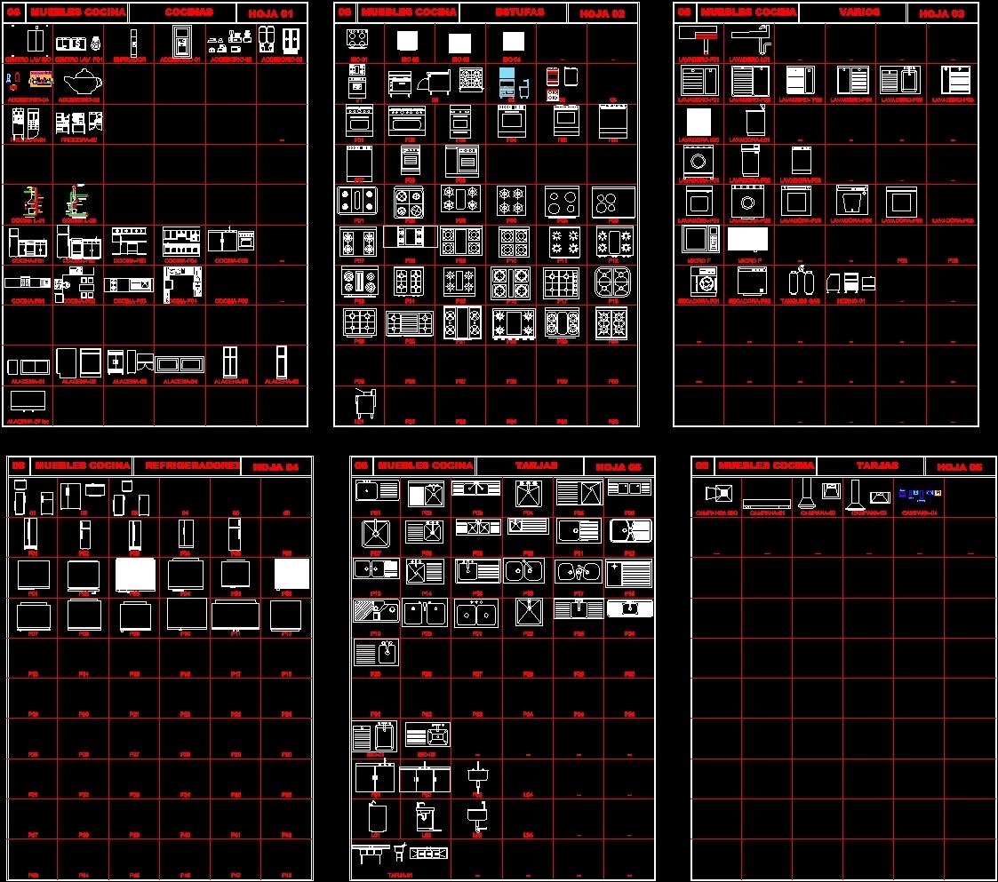 Kitchen Dwg File: Kitchen Appliances DWG Block For AutoCAD • Designs CAD