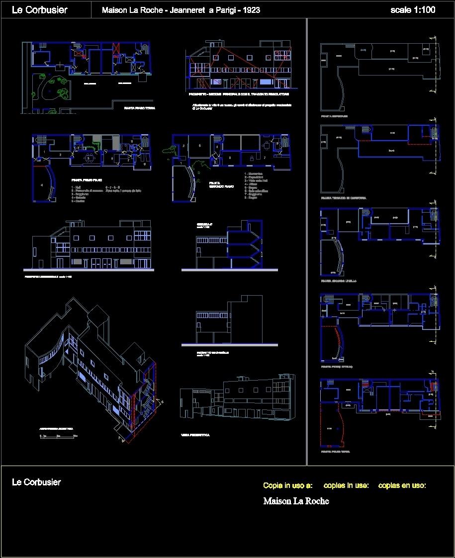 Maison La Roche - Jeanneret DWG Block for AutoCAD • Designs CAD