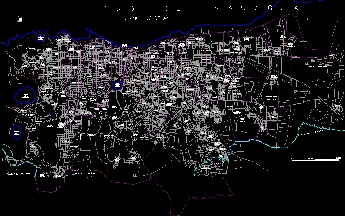 Managua city map dwg block for autocad designs cad file type dwg gumiabroncs Image collections