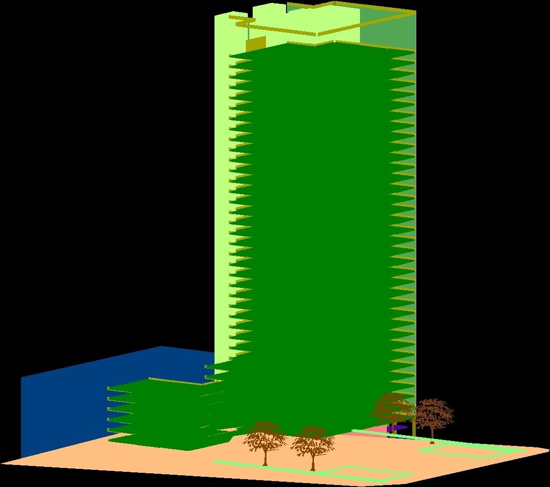 Mies Van Der Rohe Seagram Building 3d Dwg Model For Autocad  # Muebles Mies Van Der Rohe Autocad
