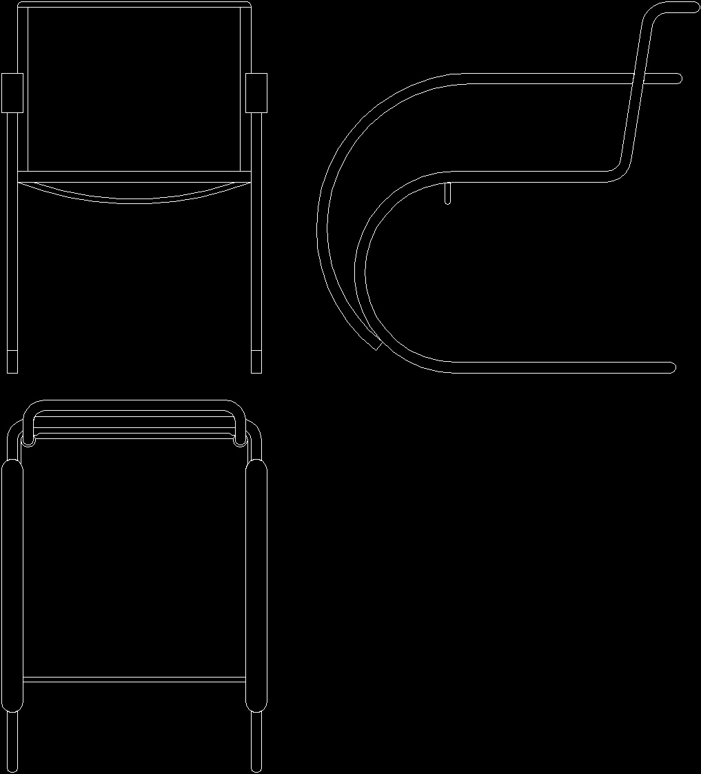 Mies Van Der Rohe Chair 1926 Dwg Block For Autocad Designs Cad # Muebles Mies Van Der Rohe Autocad