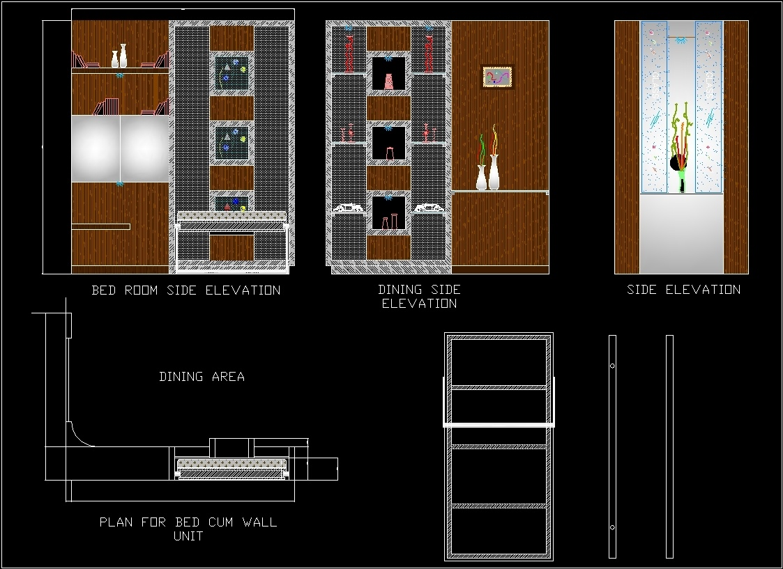 Murphy Bed Wall Unit 2d Dwg Block For Autocad Designs Cad