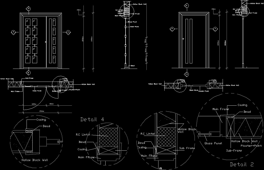 Openings Doors Windows Dwg Plan For Autocad Designs Cad
