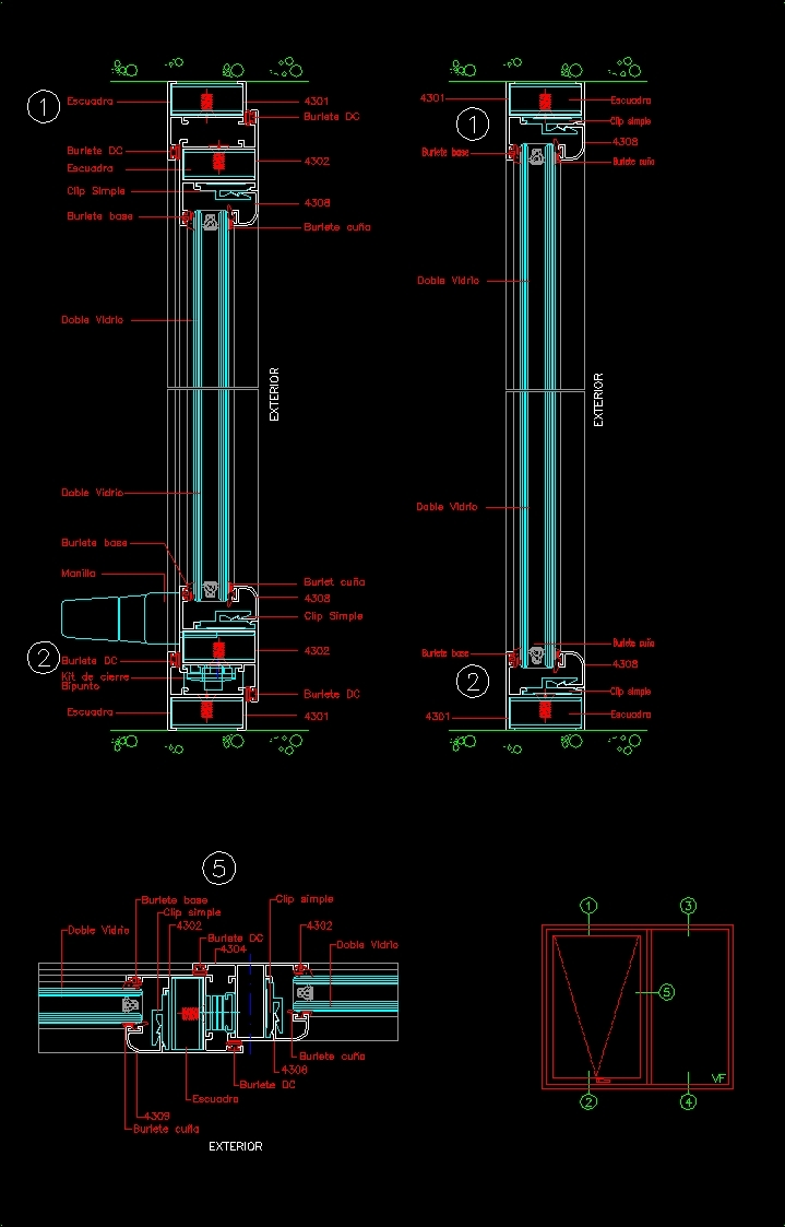 Autocad 3d House Design Software: Operable Window DWG Detail For AutoCAD