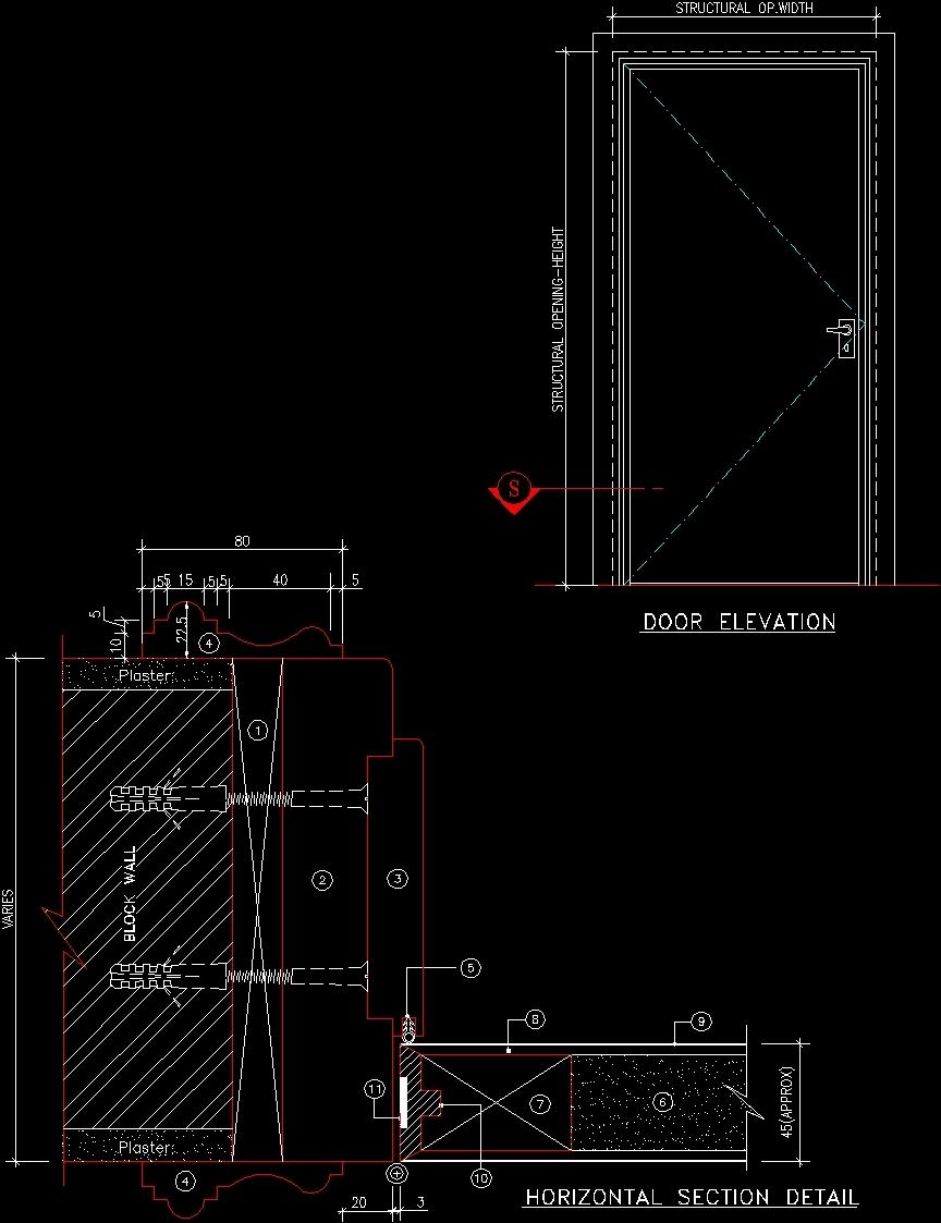 File Type dwg & Paneled Door DWG Plan for AutoCAD \u2022 Designs CAD