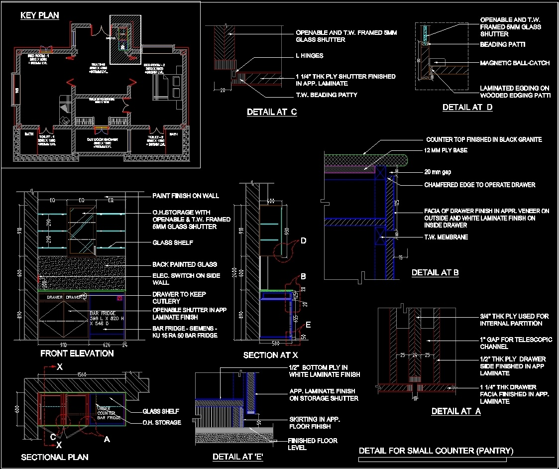 Kitchen Dwg File: Pantry Detail DWG Plan For AutoCAD • Designs CAD