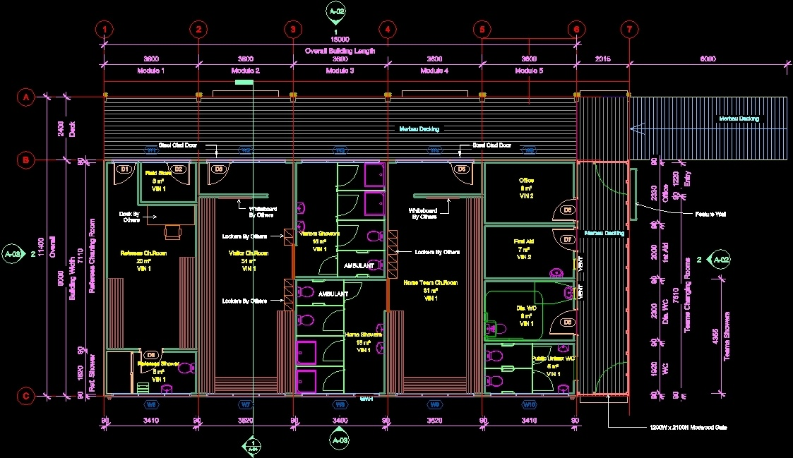 Pavilion Football Dwg Block For Autocad Designs Cad
