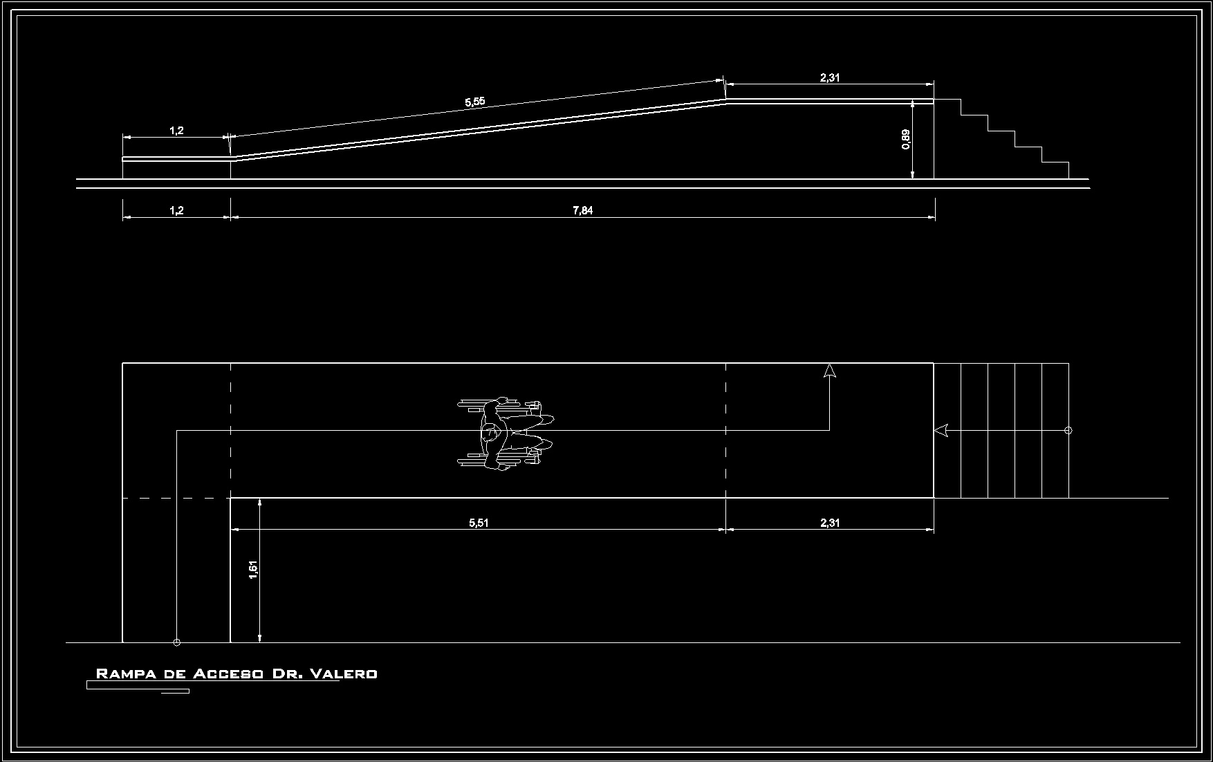 Pedestrian Ramp Disabled Dwg Plan For Autocad Designs Cad
