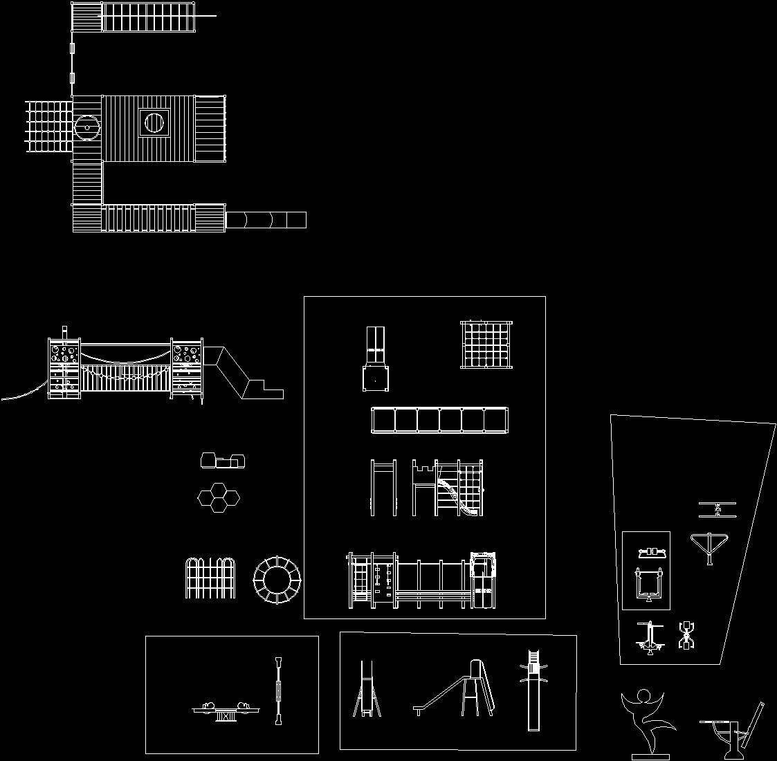 Playground Equipment Dwg Block For Autocad Designs Cad