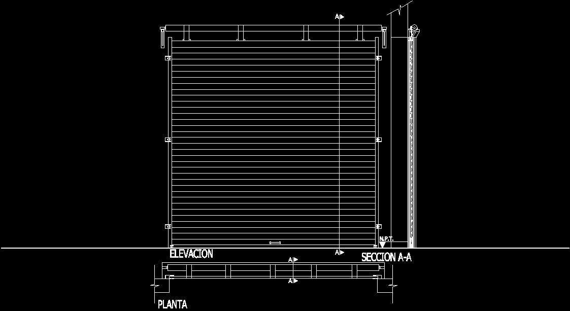 Roll Door Dwg Block For Autocad Designs Cad