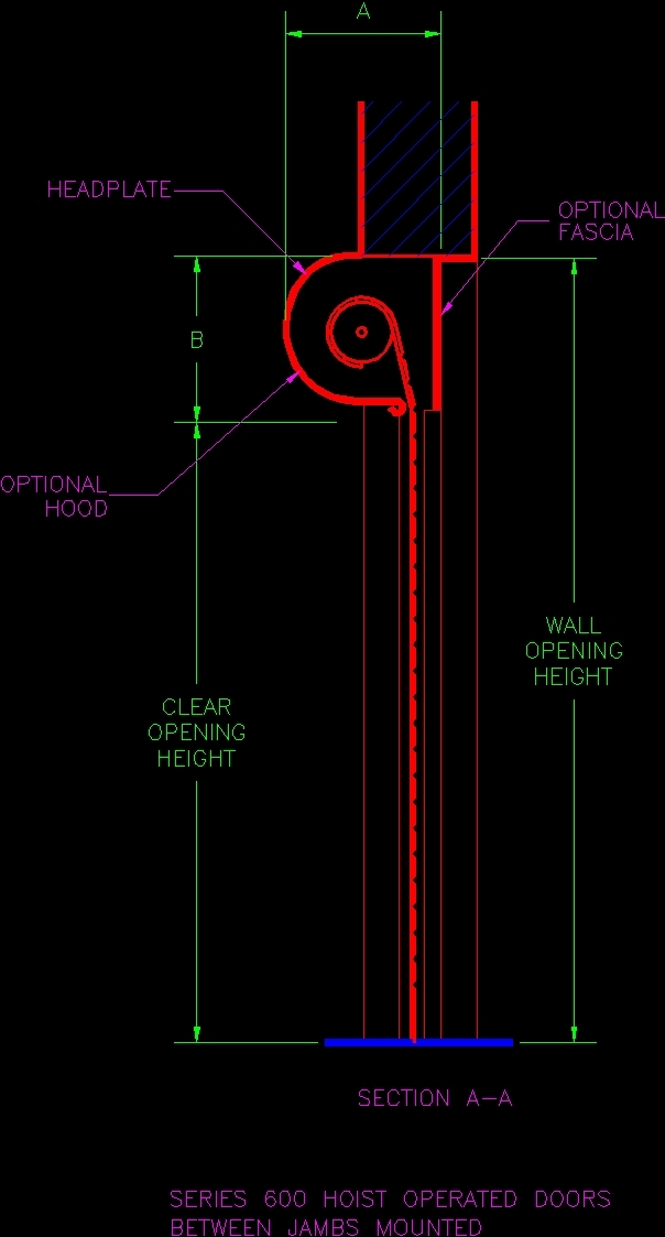 Rolling Door Detail Dwg Detail For Autocad Designs Cad