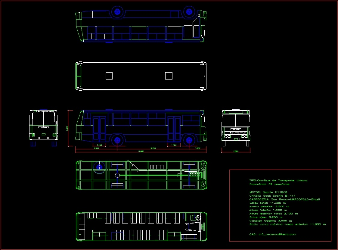 scania bus dwg block for autocad designs cad