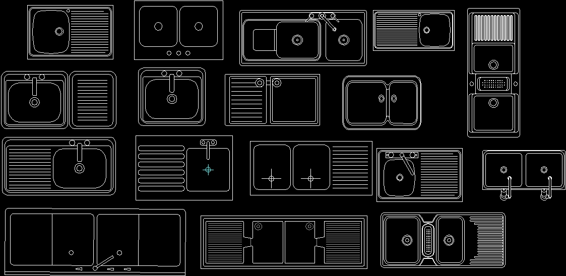 Sinks Dwg Block For Autocad Designs Cad