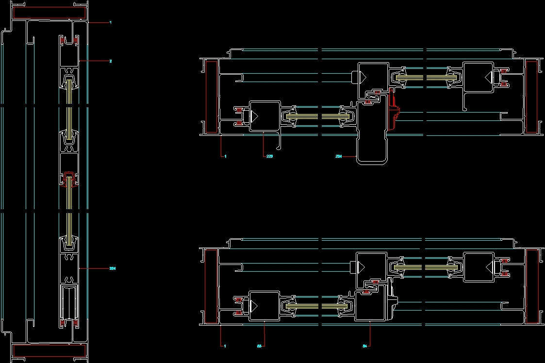 Sliding door details dwg detail for autocad designs cad for Sliding door plan view