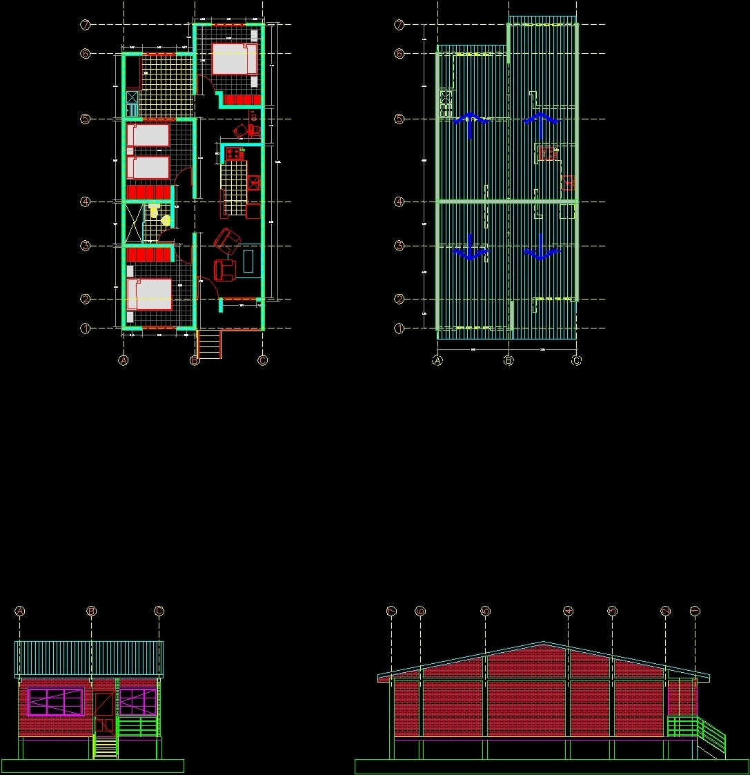 Social Interest Housing Dwg Block For Autocad Designs Cad # Muebles Gimnasio Dwg