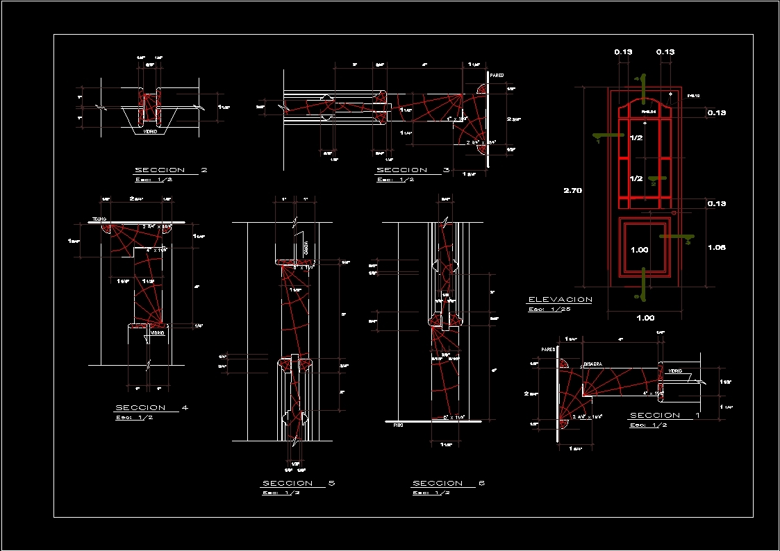 Cad Door Section & Single Flush Door Section Dwg Sc 1 St