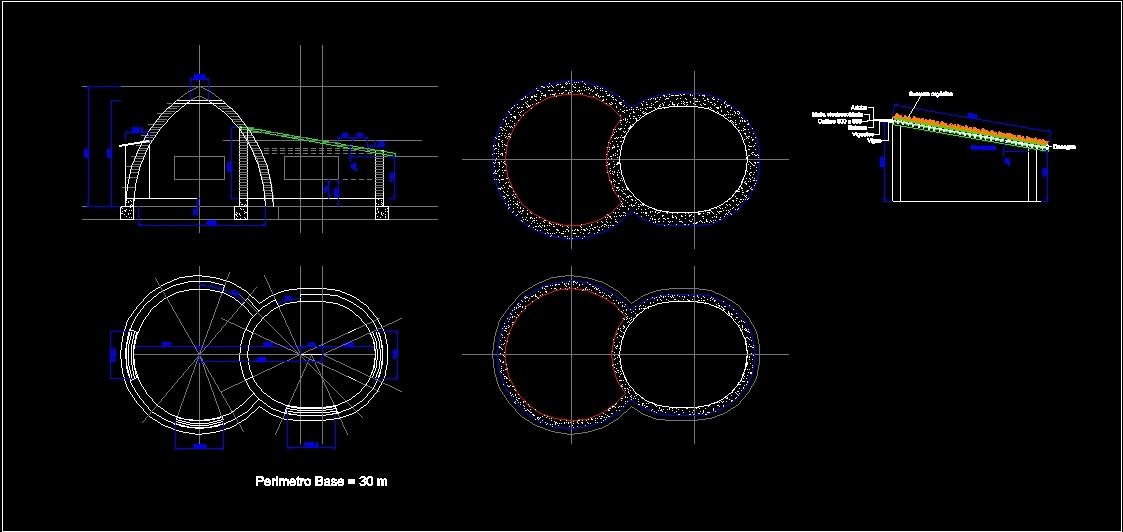 Super Domes Adobe DWG Block for AutoCAD