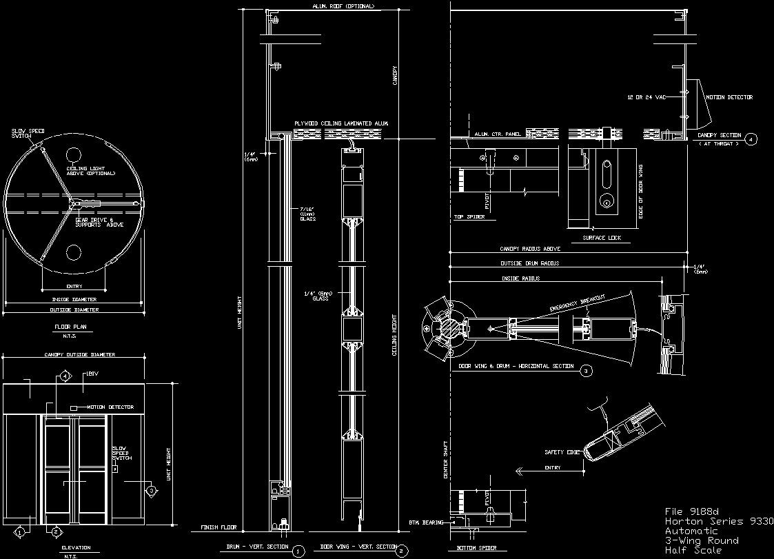 Swivel Door Dwg Block For Autocad Designs Cad