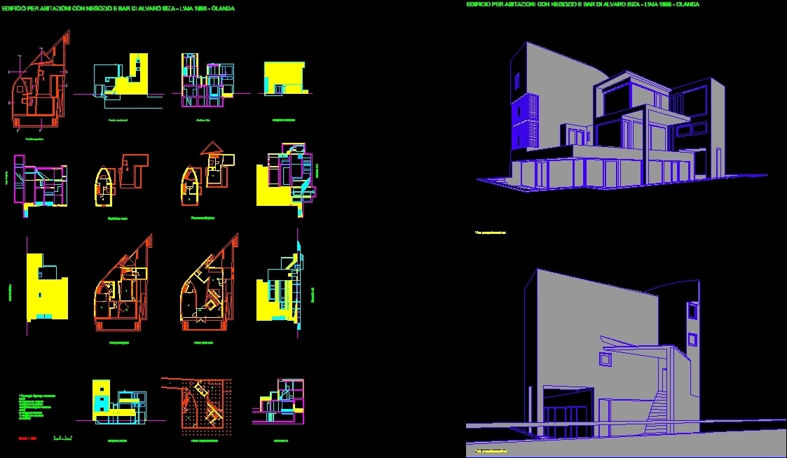 The Hague (Alvaro Siza) DWG Section for AutoCAD • Designs CAD