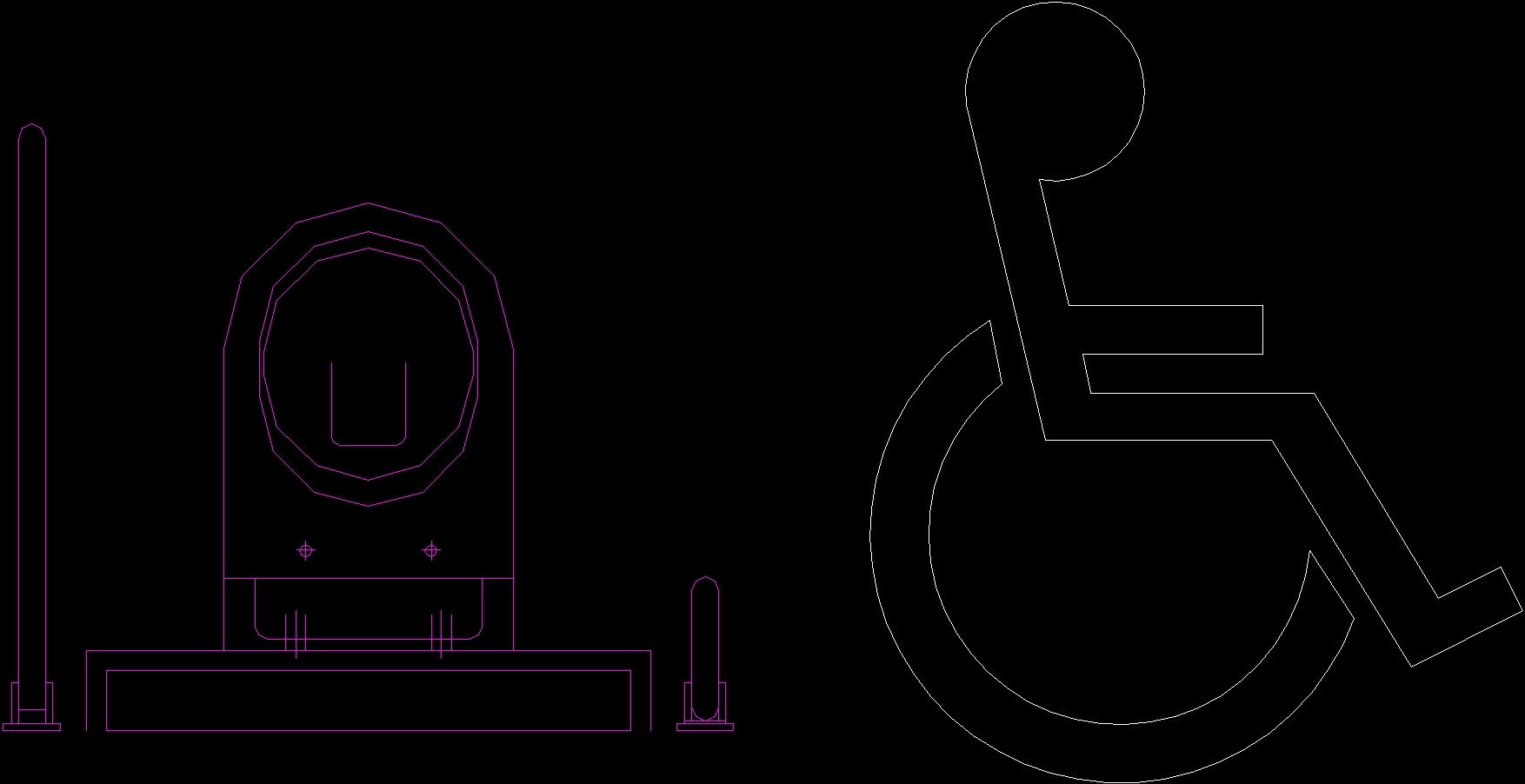 Toilet For Disabled Persons Dwg Block For Autocad Designs Cad