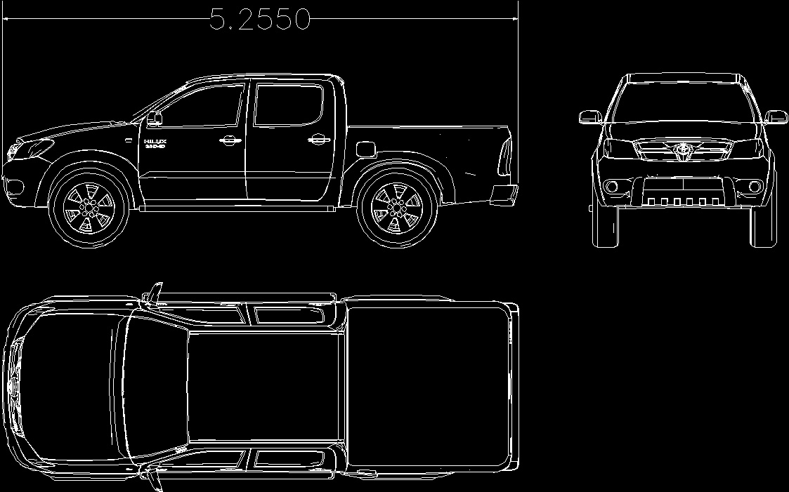 Toyota Of Plano >> Toyota Hilux 2014 DWG Model for AutoCAD • Designs CAD