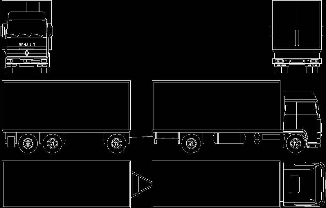 Truck 006 Dwg Block For Autocad Designs Cad