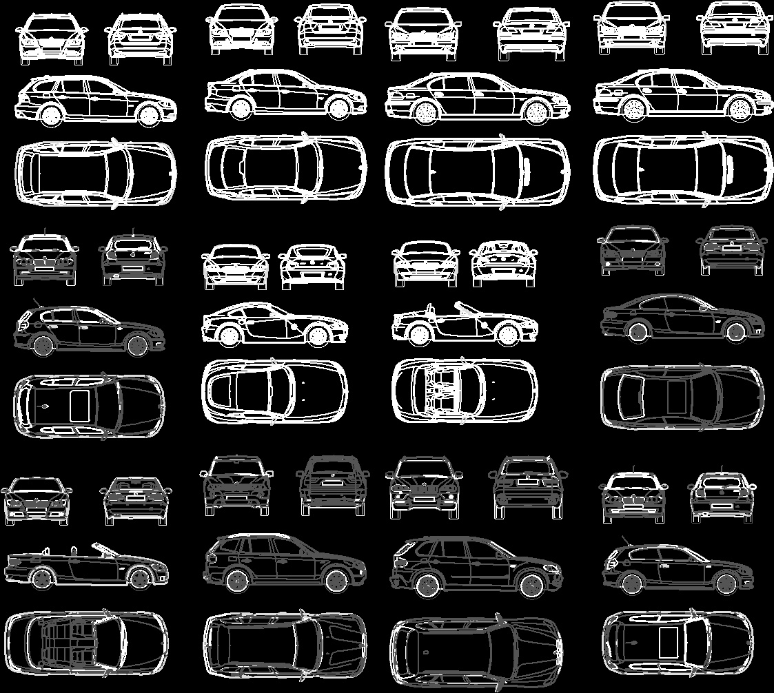 View Cars 2D DWG Block for AutoCAD • Designs CAD