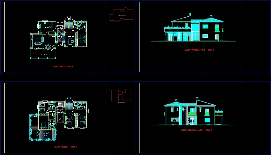 Villa Plans 2d Dwg Plan For Autocad Designs Cad