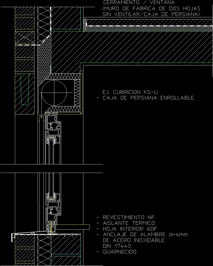 Window scrolling blind detail dwg detail for autocad for Window design autocad