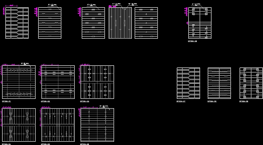 Window Grill Dwg Block For Autocad Designs Cad