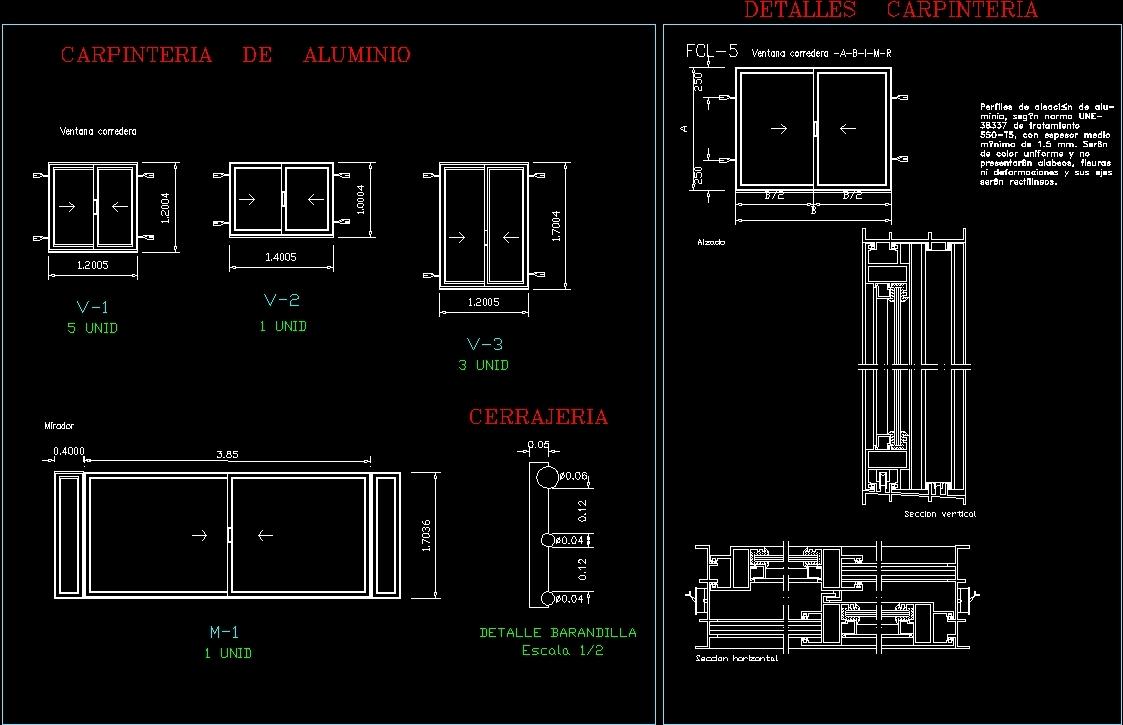 Windows Aluminium Details Dwg Detail For Autocad Designs Cad