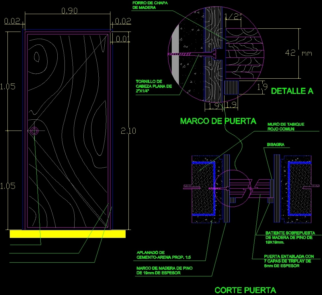 Wood Door Dwg Block For Autocad Designs Cad