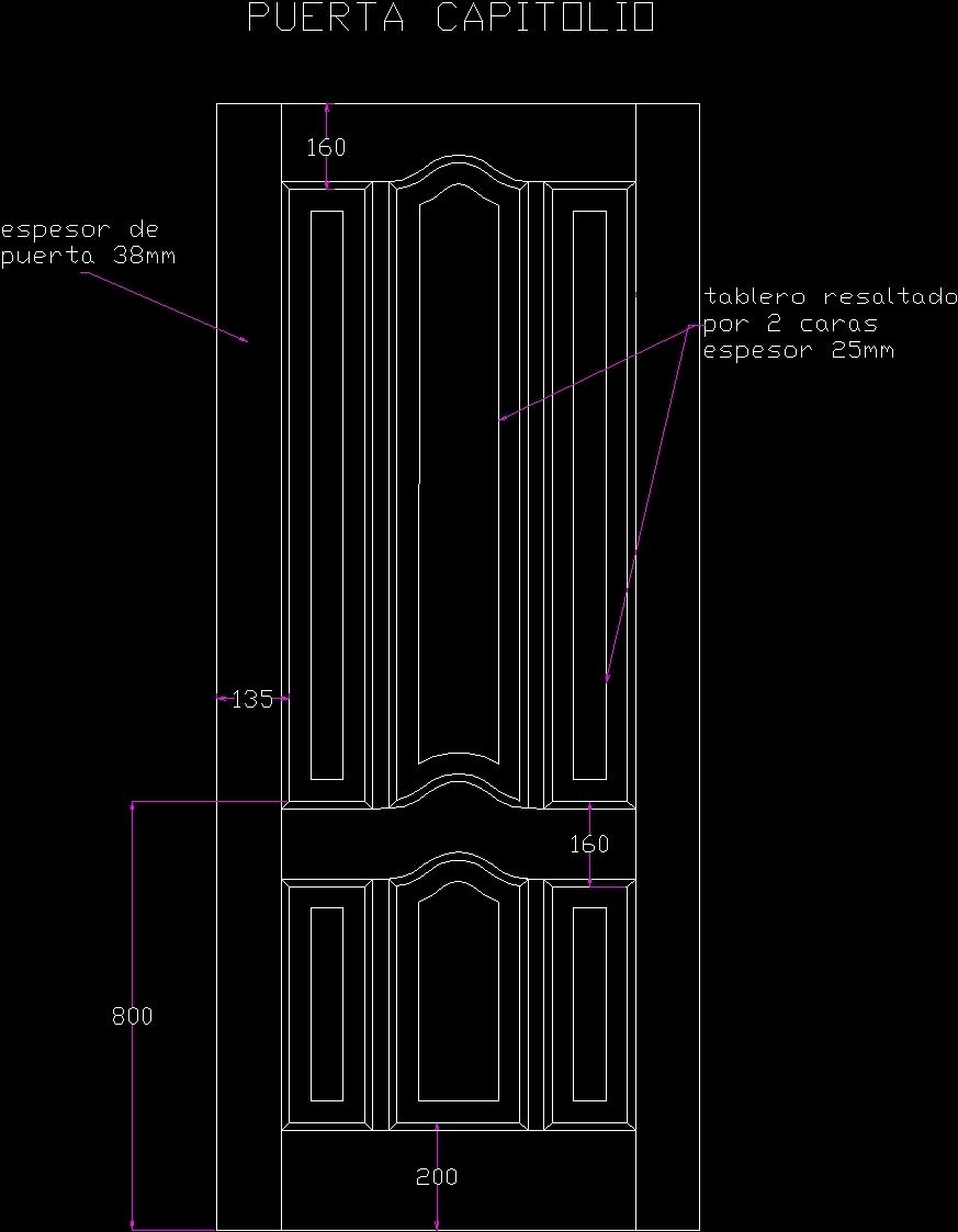 Wood Door Elevation : Cad door elevation common blocks
