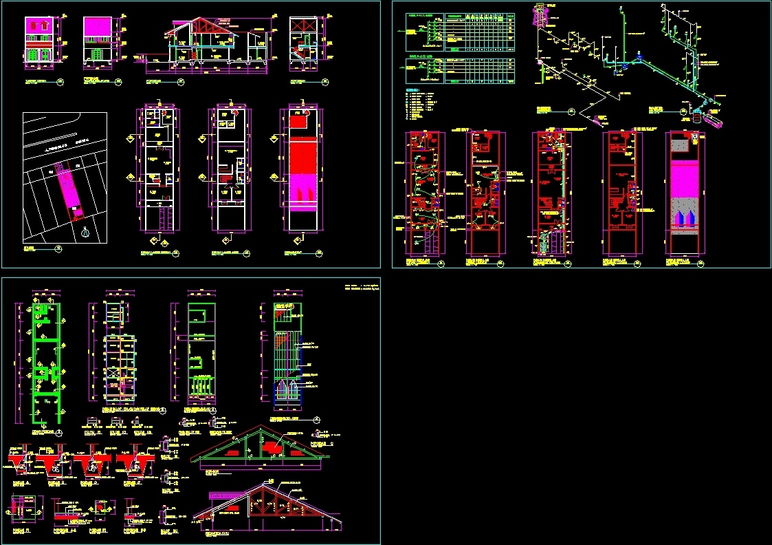 Working Drawing Of Family House Dwg Block For Autocad Designs Cad