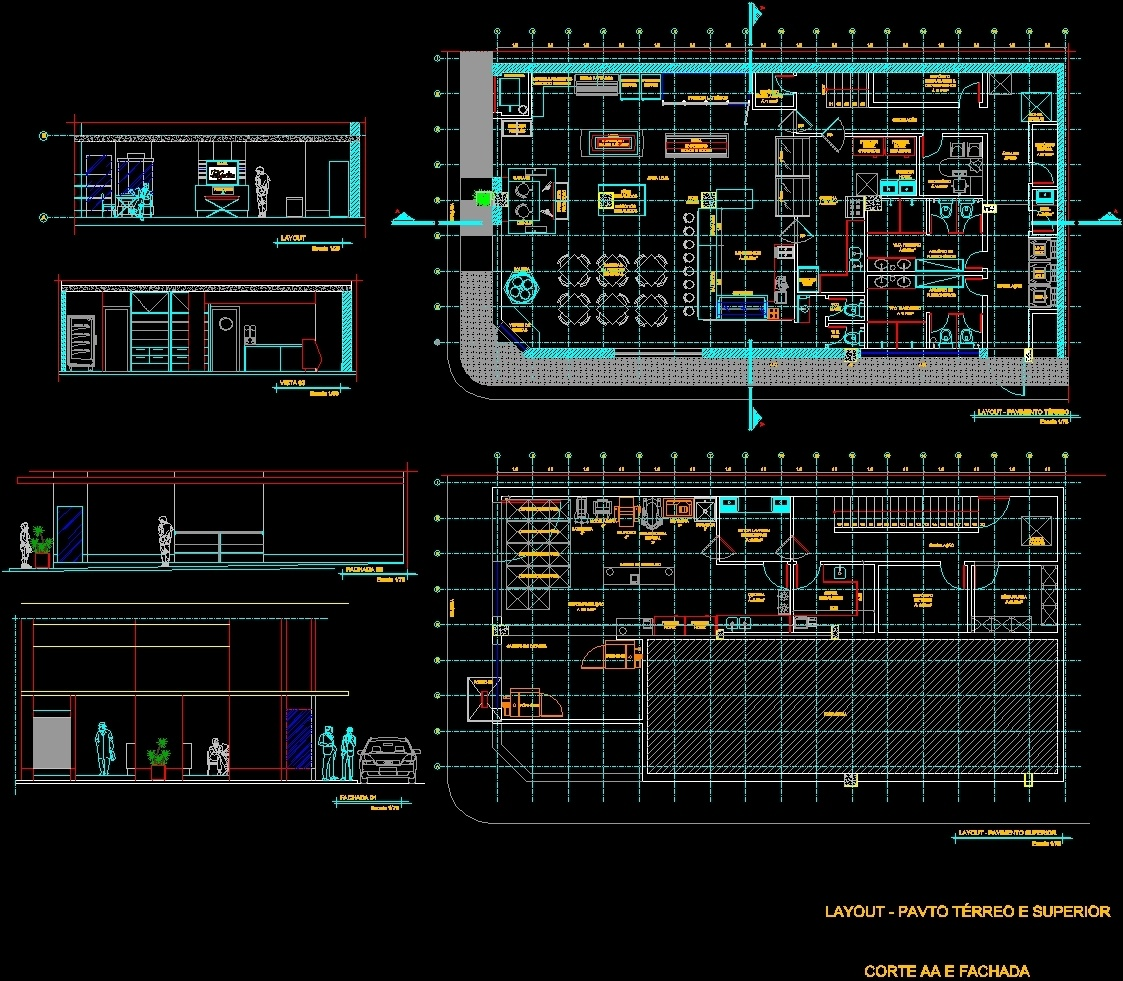 Bakery Dwg Section For Autocad Designs Cad