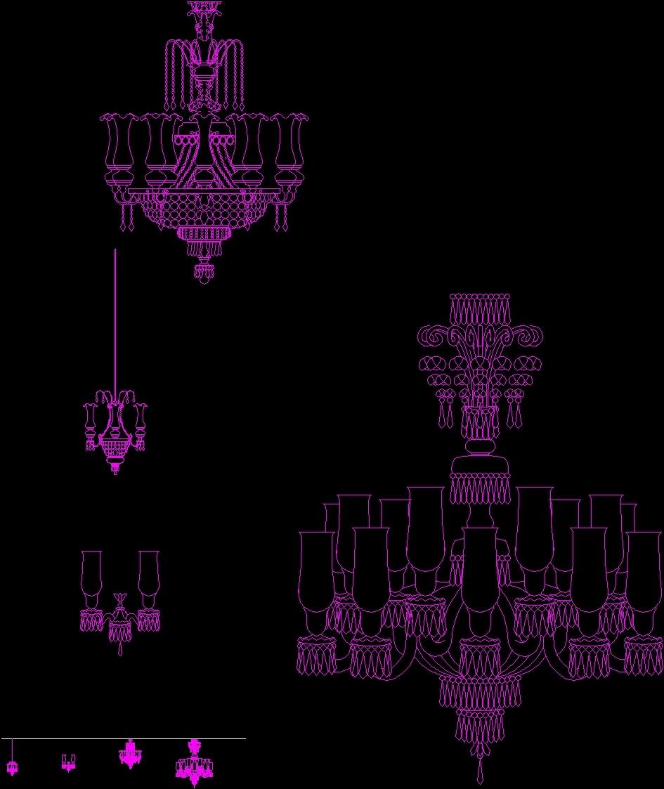 Chandelier dwg block for autocad designs cad chandelier dwg block for autocad mozeypictures Images