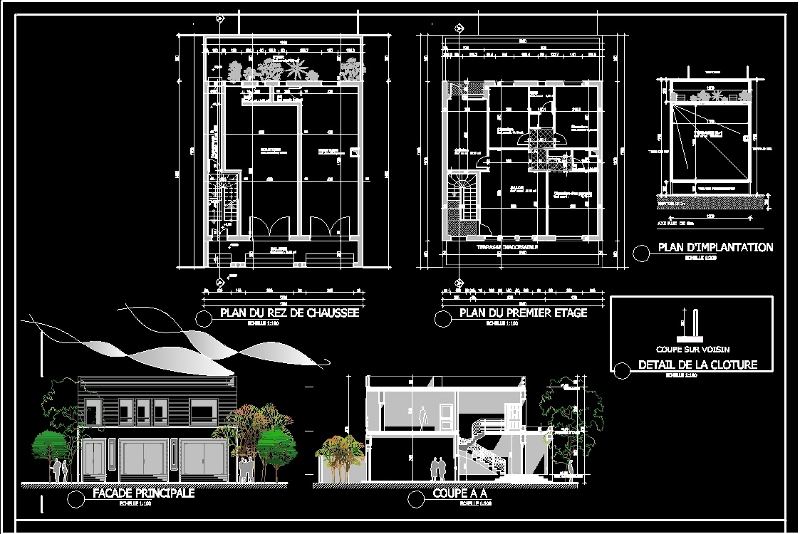 Commercial House DWG Block for AutoCAD • Designs CAD