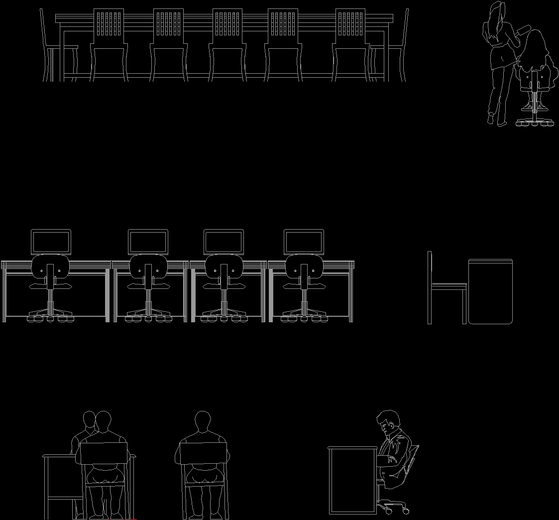 Office Furniture 2D DWG Elevation For AutoCAD • Designs CAD