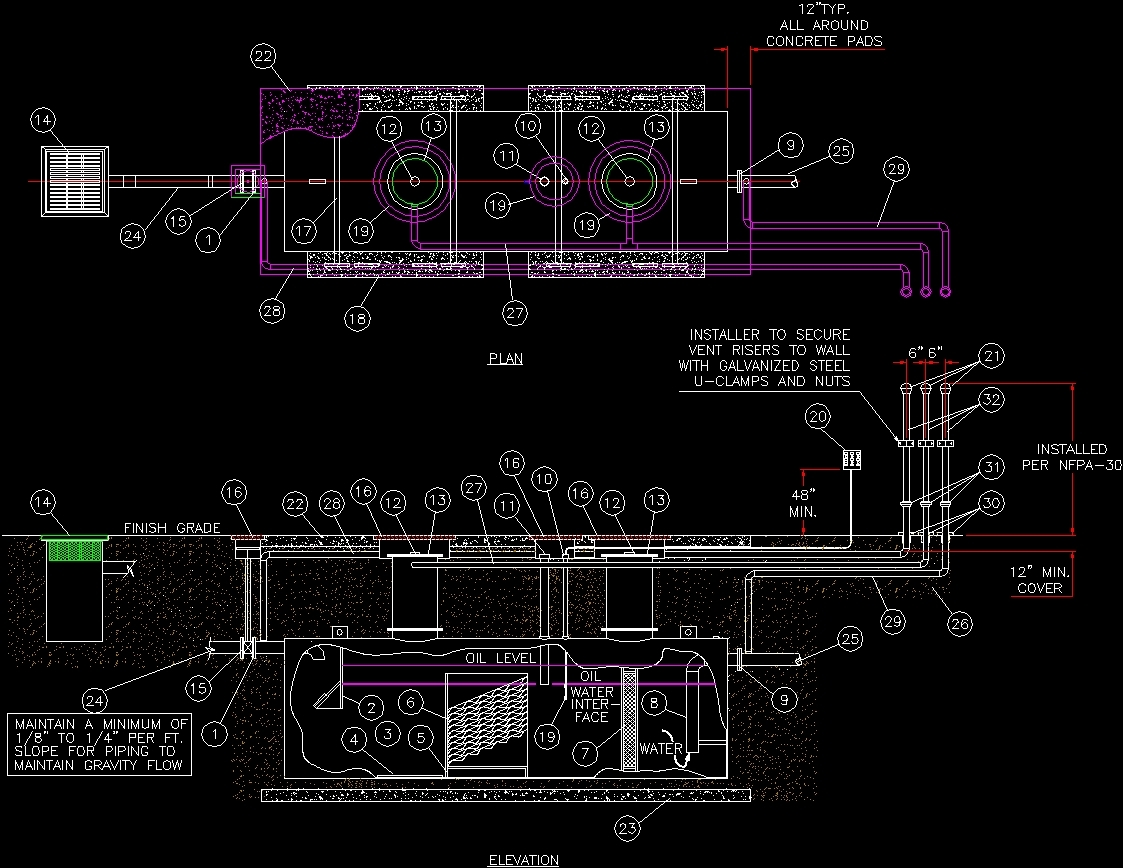 Sediment Tank Separator Dwg Block For Autocad Designs Cad