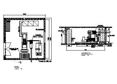 Genset Room 600kva Designs Cad