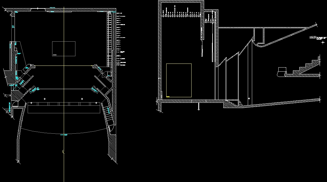 Theater Dwg Section For Autocad Designs Cad