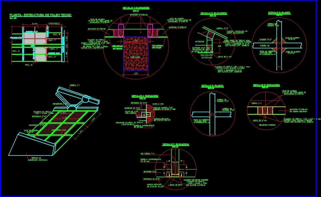 False Ceiling Details DWG Detail for AutoCAD • Designs CAD
