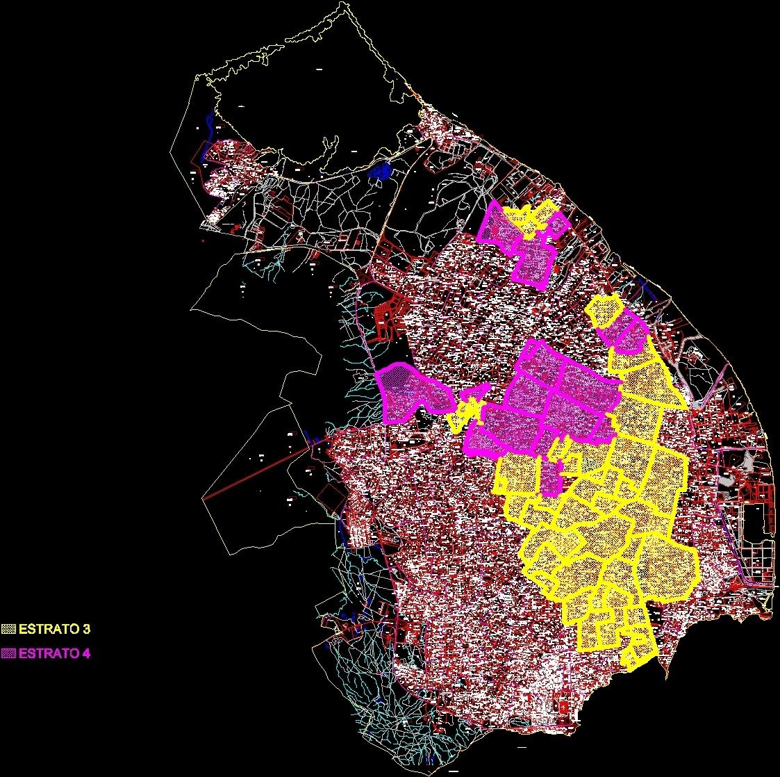 Map Barranquilla Columbia Dwg Block For Autocad Designs Cad # Muebles Harvi Barranquilla Direccion