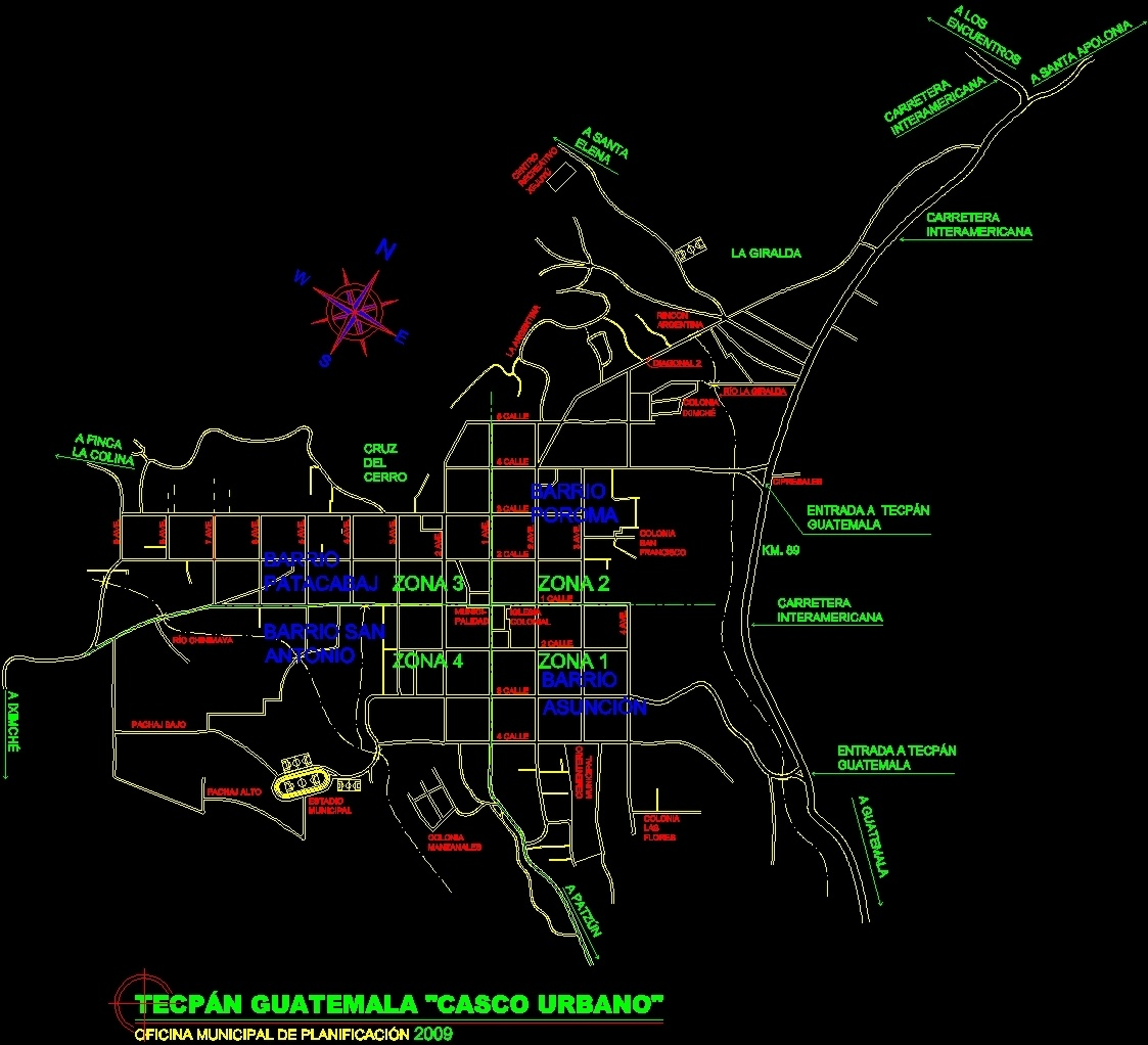 Map casco town tecpn guatemala dwg plan for autocad designs cad additional screenshots gumiabroncs Image collections