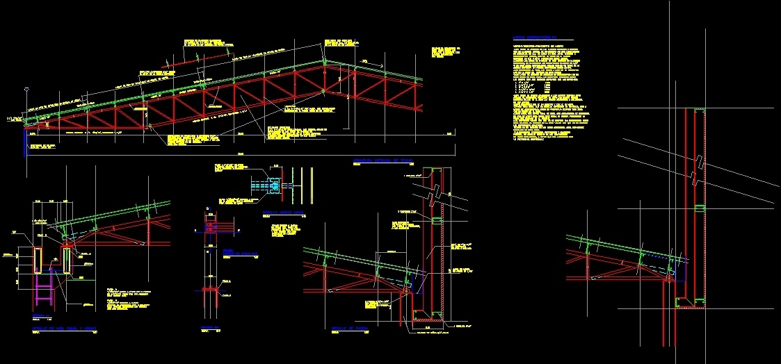 Steel Roof Truss Dwg 12 300 About Roof