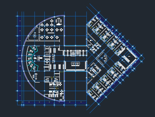Design Facilities And Furniture Of Multi Storey Modern Hospital 2d Dwg Plan For Autocad
